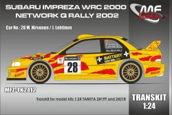 1:24 Subaru Impreza S6 WRC Hirvonen - Netwoek Q Rally2002 (resin parts and decals) Transkit