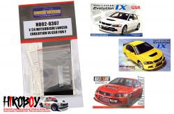 1:24 Mitsubishi Lancer Evolution IX GSR Photoetched Detail Up set For Fujimi