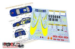 1:24 Subaru Impreza Works Team 2001 Rally Monte-Carlo Decals (Tamiya)