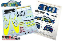 1:24 Subaru Impreza Works Team 2001 Rally New Zealand Decals (Tamiya)