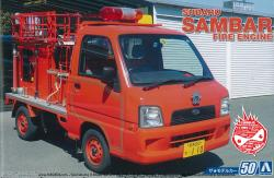 1:24 Subaru Sambar Fire Engine Model Kit