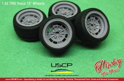 "1:24 TRD Tosco 15"" Wheels with Stance Tyres"