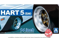 "1:24 Takechi Project Racing Hart  5 FR 5H 14"" Wheels and Tyres"