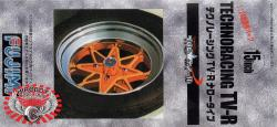"1:24 Hayashi Techno Racing TV-R 15"" Wheels and Tyres"