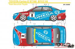 1:24 Toyota Carina E ST191 BTCC 1993 Team Securicor Decals (Beemax) c/w WHEELS