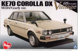 1:24 Toyota Corolla DX KE70 Sedan Early Version Model Kit