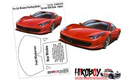 1:24 Ferrari 458 Italia Pre Cut Window Painting Masks (Fujimi)