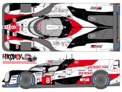 1:24 Toyota TS050 Hybrid #7 #8 Le Mans/SPA 2019 Decals