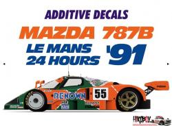 1:24 Mazda 787B Le Mans 1991 Markings Decals
