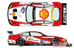 1:24 BMW M6 GT3 42 Zurich 24h Of Nurburgring 2017 Decals