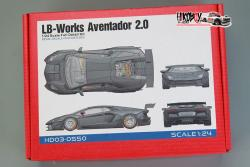 1:24 LB Lamborghini Aventador V2 Full Resin Kit