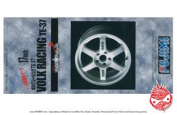 "1:24 Volk Racing TE37 17"" Wheels and Tyres (White)"
