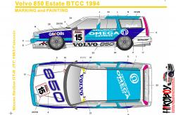 1:24 Volvo 850 Estate BTCC 1994 (Omega Express) Decals (Tamiya)