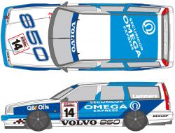 1:24 Volvo 850 Estate 1995 Decals (for Tamiya kit #24162)