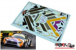 1:24 Mercedes AMG GT3 Linkin Park #999 Macau 2017 Decals