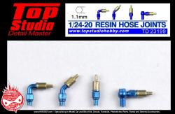 1:24 / 1:20 Resin Hose Joints (1.1mm)