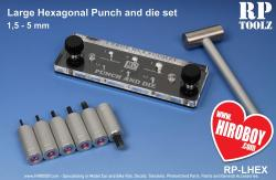 Large Hexagonal Punch and Die Set - 1.5mm - 5mm