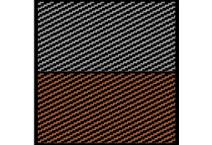 1:43 Carbon Fiber Decal Black/Pewter & Black/Bronze 1443