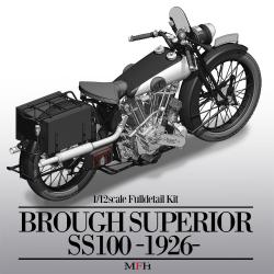 1:9 Brough Superior SS100 - 1926 Version Full Detail Multi Media Kit