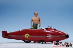 1:9 Burt Munro Special [ Speed record in 1962 ] Full Detail Model Kit
