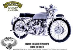 1:9 HRD Vincent Black Shadow Motorcycle 1948 - Full Detail Multi Media Kit