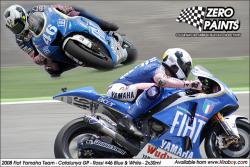 2008 Fiat Yamaha Team Catalunya GP - Rossi #46 Blue & White - 2x30ml