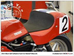 2mm Black Self Adhesive Foam for MotoGP Bikes