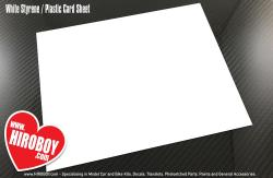 1mm Thick White Styrene / Plastic Card Sheet 245x180mm