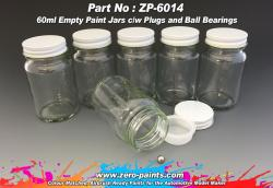 60ml Glass Jars/Bottles for Paints