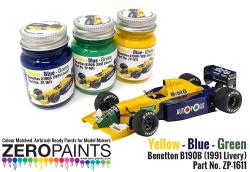 Benetton B190B (1991 Livery) Yellow - Blue - Green Paint Set 3x30ml