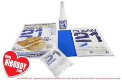 Colle21 Basic Kit (CA Glue 21g, Magic Dust, Abrasive Pad, Nozzle).