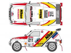 "Citizen Pajero 1992 Decals for ""Mitsubishi Pajero '92 Paris  Le Cap Winners"" (Tamiya)"