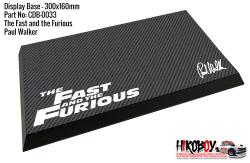 Fast and Furious ( Paul Walker) Display Base for Model Kits 300x160mm