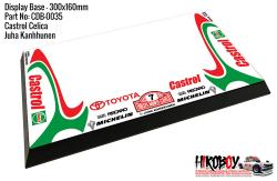 Castrol Celica - Juha Kankkunen #7 - Display Base for Model Kits 300x160mm