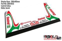 Castrol Celica - Didier Auriol #3 - Display Base for Model Kits 300x160mm
