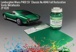 Lamborghini Miura P400 SV Full Restoration Verde Metallazata (Green) Paint  60ml