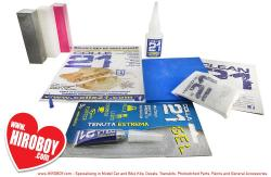 Colle21 Complete Kit (CA Glue 21g, Gel Glue 3g, Magic Dust, Abrasive Pad, Sanding Sticks).