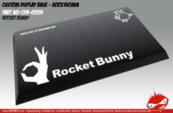 Rocket Bunny Display Base for Model Kits 300x160mm