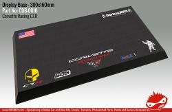 Corvette Racing C7R Display Base for Model Kits 300x160mm