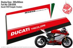 Ducati 1199 Panigale S - Tricolore Display Base for Model Kits 300x160mm