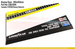 Yamaha YZR500 (Kenny Roberts) Display Base for Model Kits 300x160mm