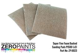 Super FINE Foam Backed Sanding Pads P1500 (x3)