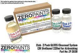 Etch (For Bare Metal Parts) - 2 Pack GLOSS Clearcoat System (2K Urethane) 220ml