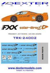 1:24 Ferrari FXX Solar Direct Decals and Resin Parts