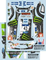 1:24 Ford Fiesta RS WRC - Ken Block #43 - Rally Mexico 2012 (Belkits)