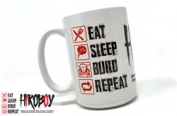 Eat Sleep Build Repeat Hiroboy Mug (Large 15oz)