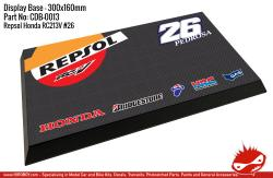 Honda Repsol RC213V #26 Dani Pedrosa Display Base for Model Kits 300x160mm