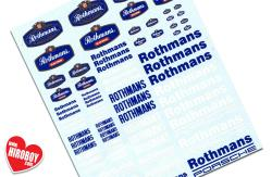 Rothmans Sponsor Decals (Various Scales)