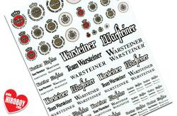 Warsteiner Sponsor Decals #1 (Various Scales)