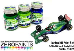 Jordan 191 Formula 1 Paint Set- 3x30ml
